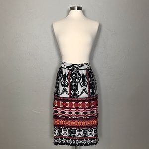 Dresses & Skirts - Renee C Abstract Geo Stretchy Pencil Skirt